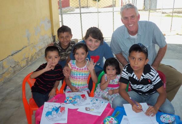 Clase de niños en Guatemala